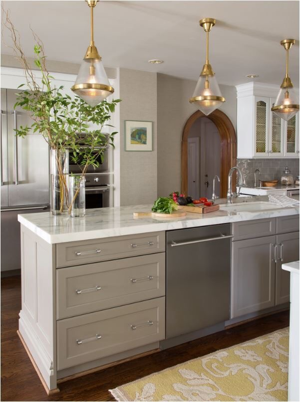 Decorative light fixtures accent your kitchen
